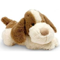 Cozy Plush Brown and White Puppy